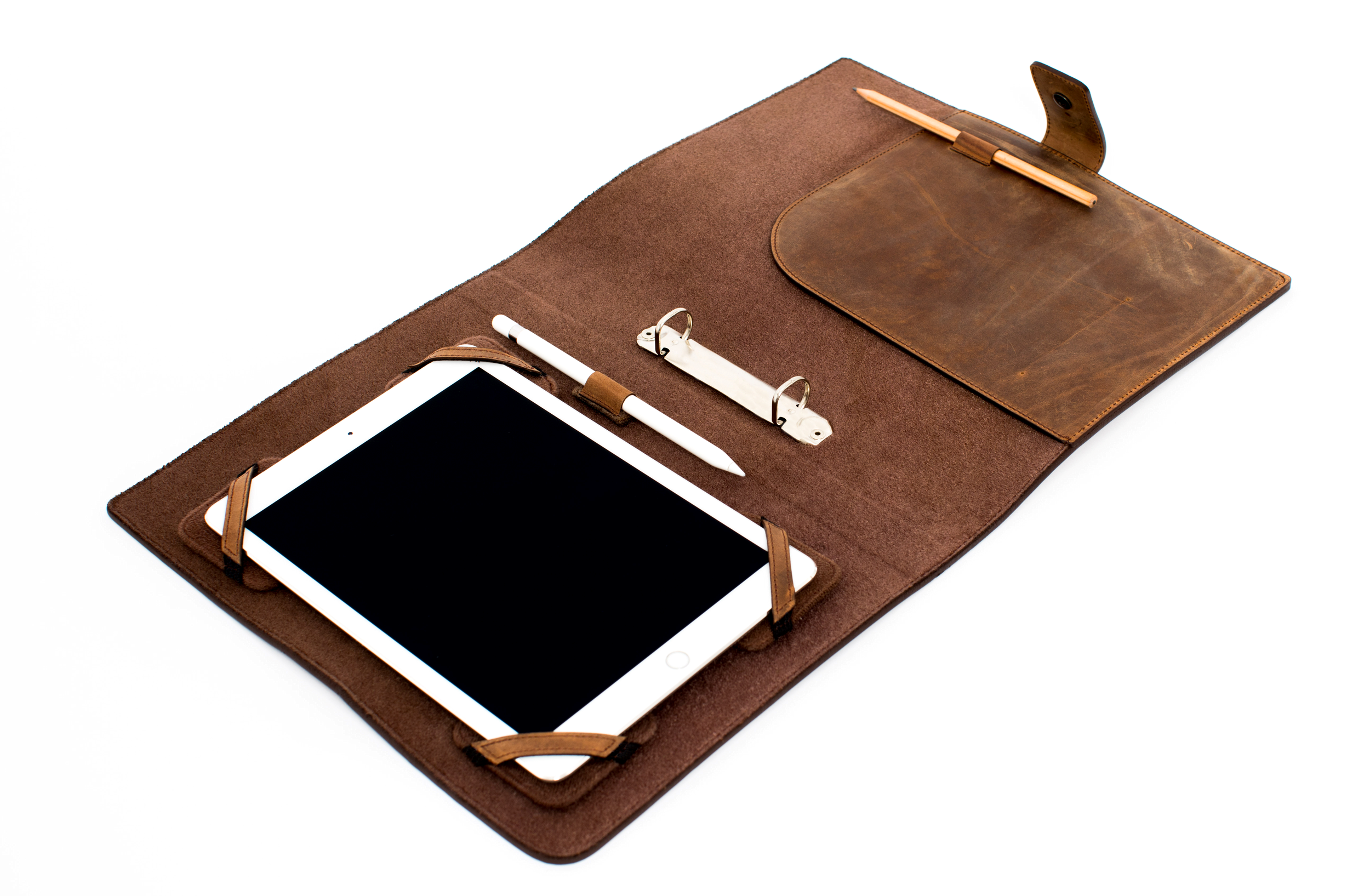 HANDSTATT Leather case 'business' for iPads/Tablets vintage brown